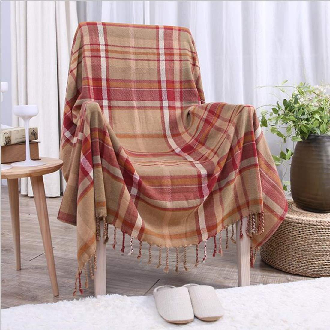影寳服装店 シェニールソファの家具のための装飾フリンジ軽量カバーとのスローベッド家具グレーのギフトブランケット (色 : 2, サイズ : 59