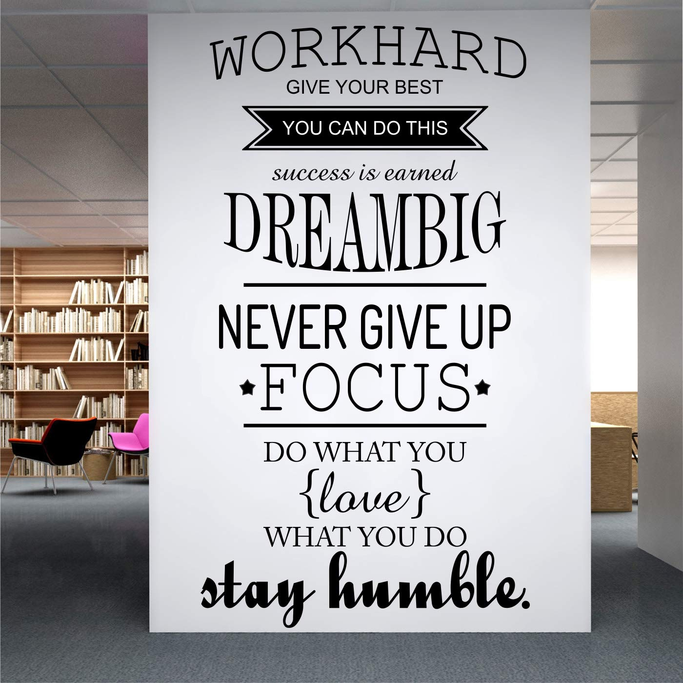 buy stickme work hard never give up inspirational motivation