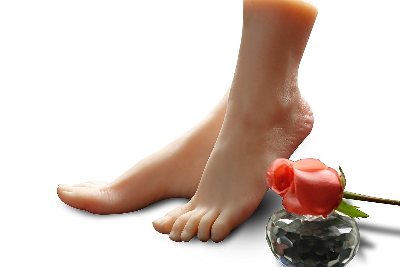 kumiho 実物大 美しい 可愛い 肌色 足模型 女性 リアル 指可動 撮影 商品販売 デザイン 教学用 練習 足モデル (両足)  両足 B0728NMGVB