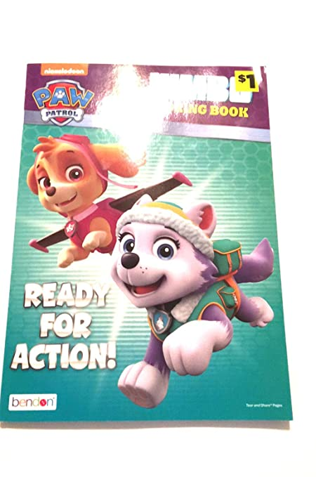 Amazon Com Paw Patrol Jumbo Coloring Book Ready For Action