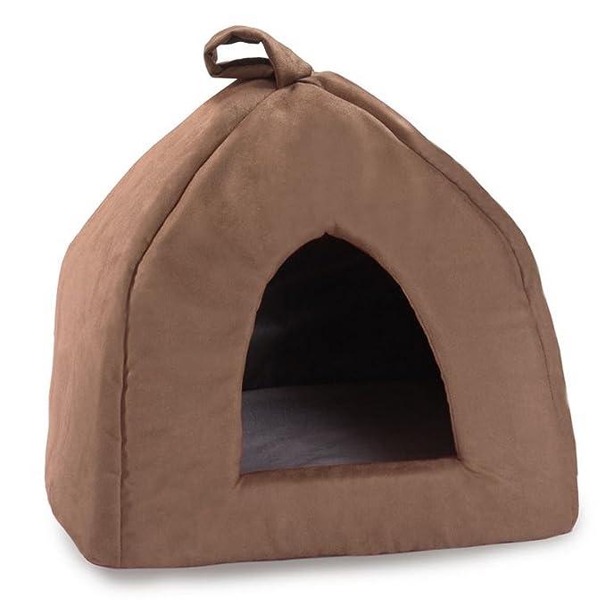 Cosipet - Cama tipo iglú modelo Chelsea para mascotas (41cm/Marrón chocolate)