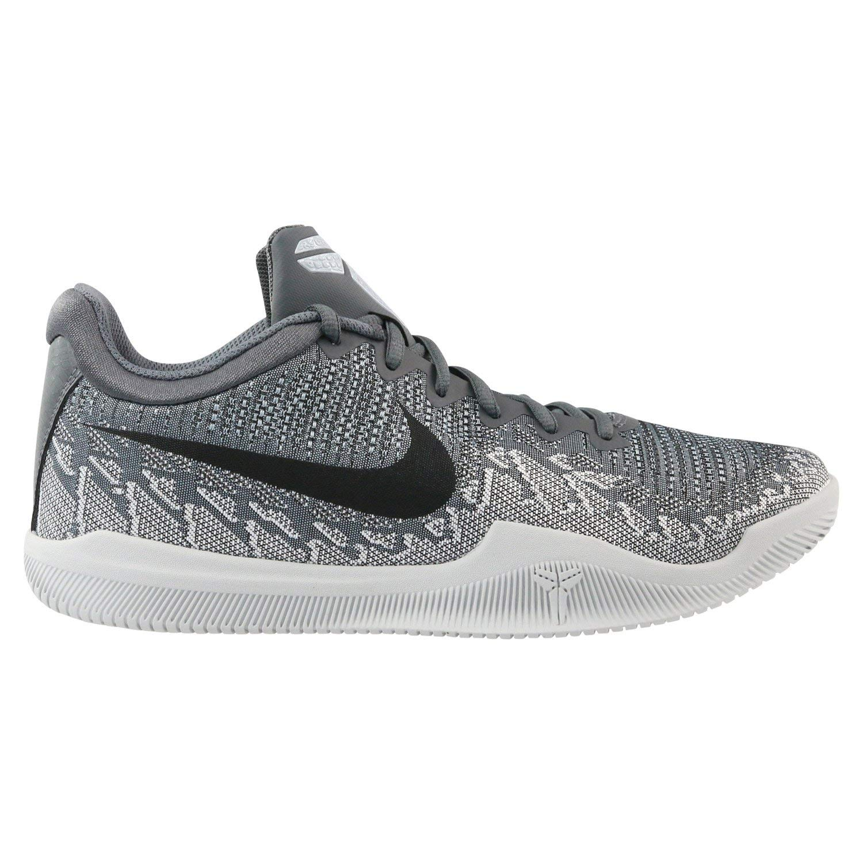 Nike Men's Mamba Rage Basketball Shoes Dark Grey/Black/Pure Platinum/White Size 7.5 M US