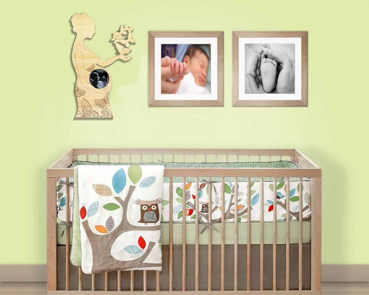 Farbklecks Collection - Fotorahmen für Ultraschallbild - Frau mit ...