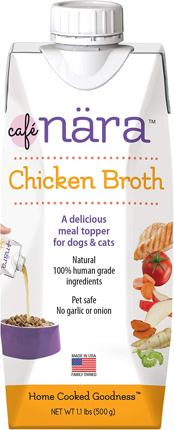 Café Nara Chicken Broth Meal Topper for Dogs and Cats - 1.1 lbs., Yellow