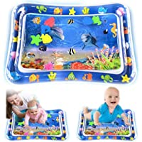 Water Play Mat for Baby, Inflatable Tummy Time Pad Sensory Toys for Babies Infants and Toddlers, Have Fun with Dolphine…