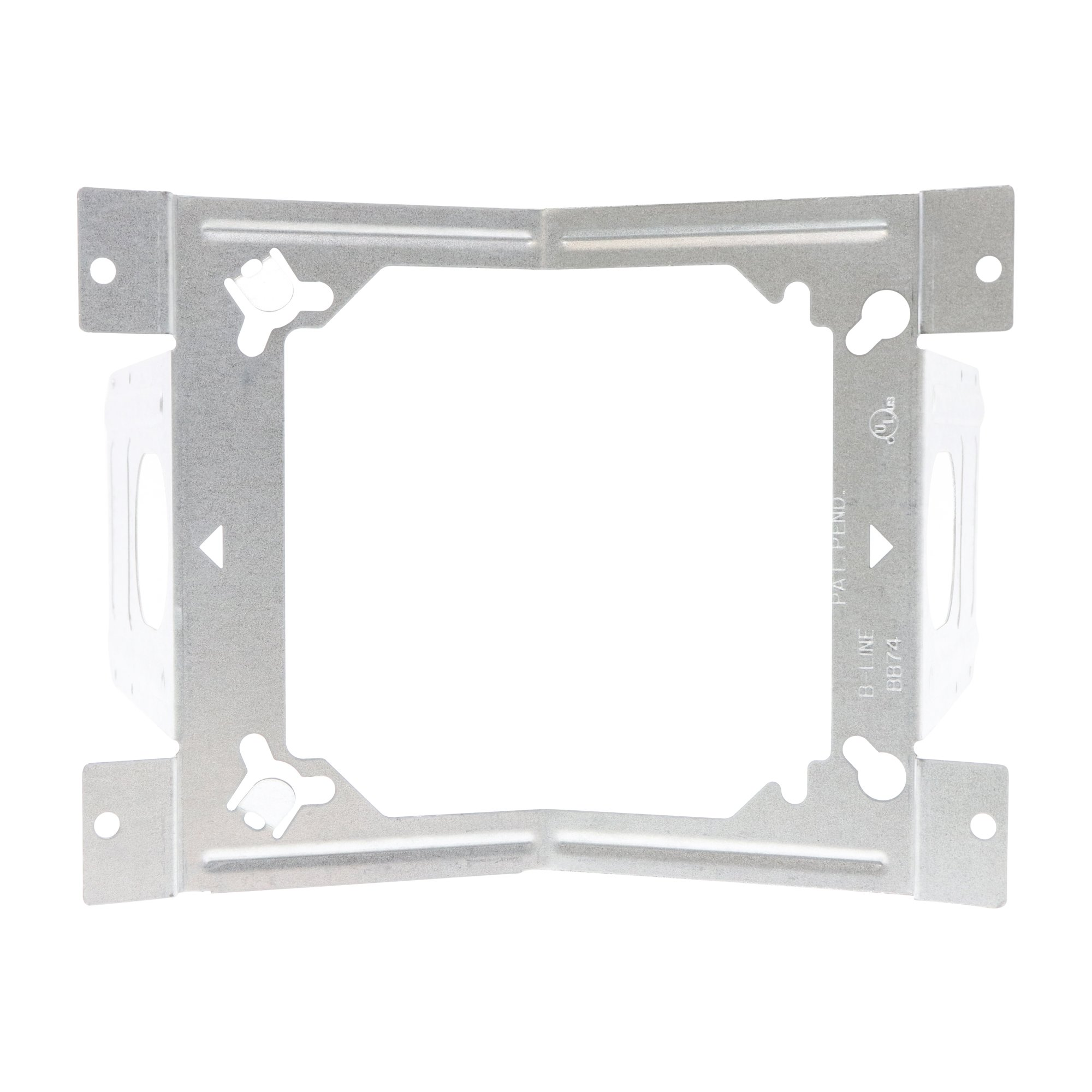 Cooper B-Line BB74 Double-Sided Device Box Support Bracket, w/Ears, (50-Pack)