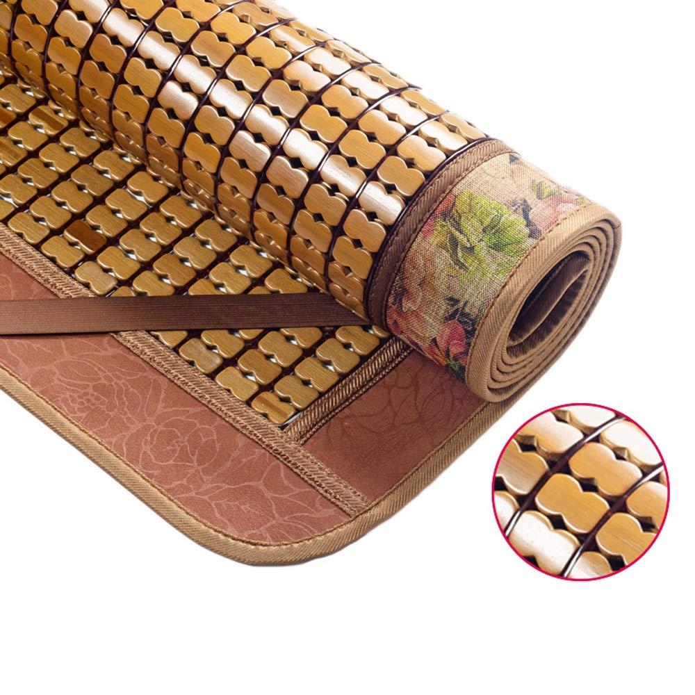 RKY Sommer Schlafmatte Carbonized Matte Faltdoppeleinzel Bambusmatte Pure Natural Umweltschutz Bambusmatte Bambusmatte Atmungsaktive Matratze / - / (Color : A, Size : 1.8x2.0m)