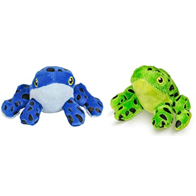 """AP Two (2) Adorable Plush Mini Tree Frogs ~ 5"""" ~ One Blue ~ One Green ~ Rainforest Toys Beanie Stuffed Jungle Animals Stocking Stuffers Gifts: Toys & Games"""
