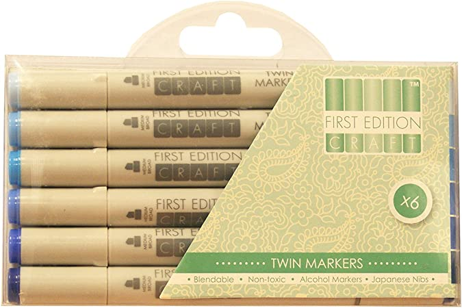 Trimcraft Blues First Edition Markers Acrylic Multicolour 16x10 66x1 77 Cm Amazon Co Uk Kitchen Home
