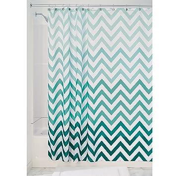 Amazon Com Interdesign Ombre Chevron Soft Fabric Shower Curtain