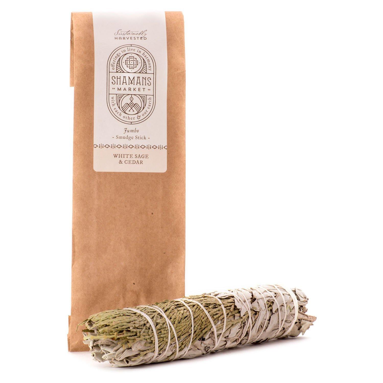 ホワイトセージ& Cedar Large Smudge Sticks 8 – 9で。 B00RNHD9NS