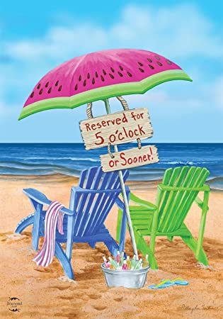 Beach Bum Summer Garden Flag Beach Chairs Umbrella 12.5u0026quot; x 18u0026quot; ...  sc 1 st  Amazon.com & Amazon.com : Beach Bum Summer Garden Flag Beach Chairs Umbrella 12.5 ...