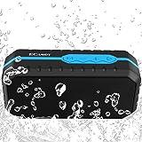 Ecandy Altoparlante Bluetooth Impermeabile,Portatile Esterna Speaker Stereo Wireless Waterproof Dustproof Crashproof( Bluetooth 4.0 + EDR,8 Ore di Riproduzione )per iPhone e smartphone Android e Tablet PC-Blu