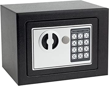 Includes Keys 12 x 7 Compact Electronic Safe Box with Mechanical Override New