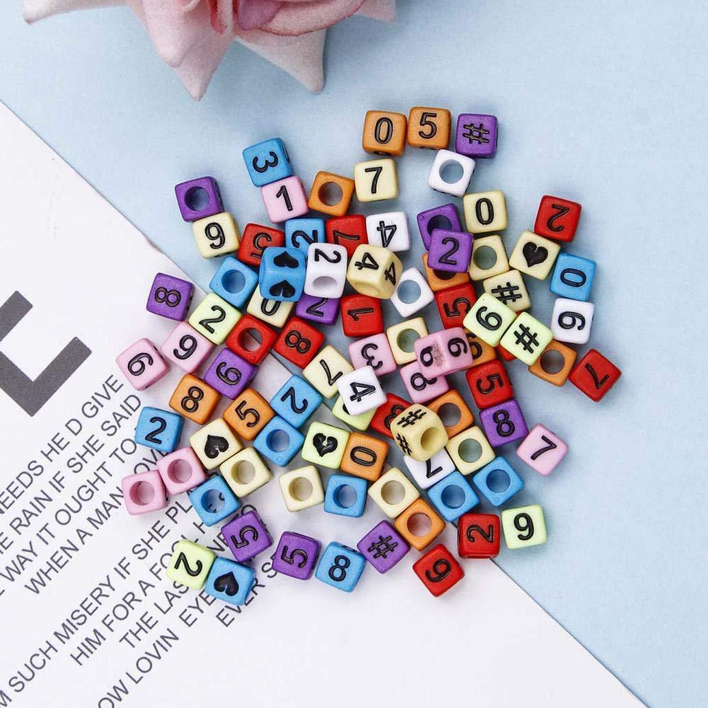 ngshanquzhuyu Newest Letra Cuentas para Hacer Joyas Alfabeto Ni/ños Kandi 750 Piezas 5 Colores Accesorios con 2 Adornos de Cordones Decoraci/ón Hogar 19