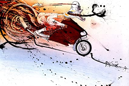 Amazon Com Ralph Steadman Hunter S Thompson On Ducati Decorative