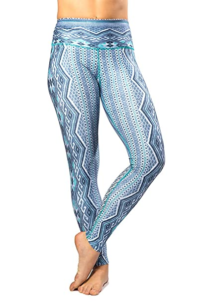 142c5902b3c17 Inner Fire Women's Yoga Pants – Flexible, Breathable, High Waisted, Eco-Fabric  (Shades of Blue)