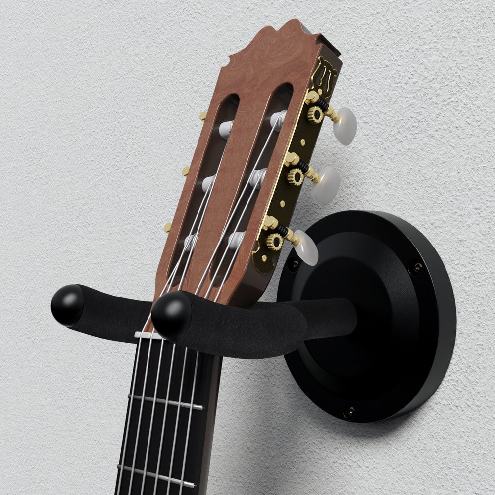 DEUBA® 3er Set Wandhalter Gitarre Skateboard Longboard Halterung Halter Wand