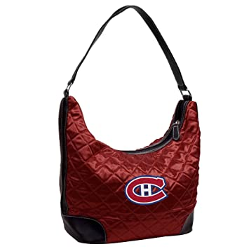 bd1e1dedefe Littlearth NHL Montreal Canadiens Team Color Quilted Hobo, Women s ...