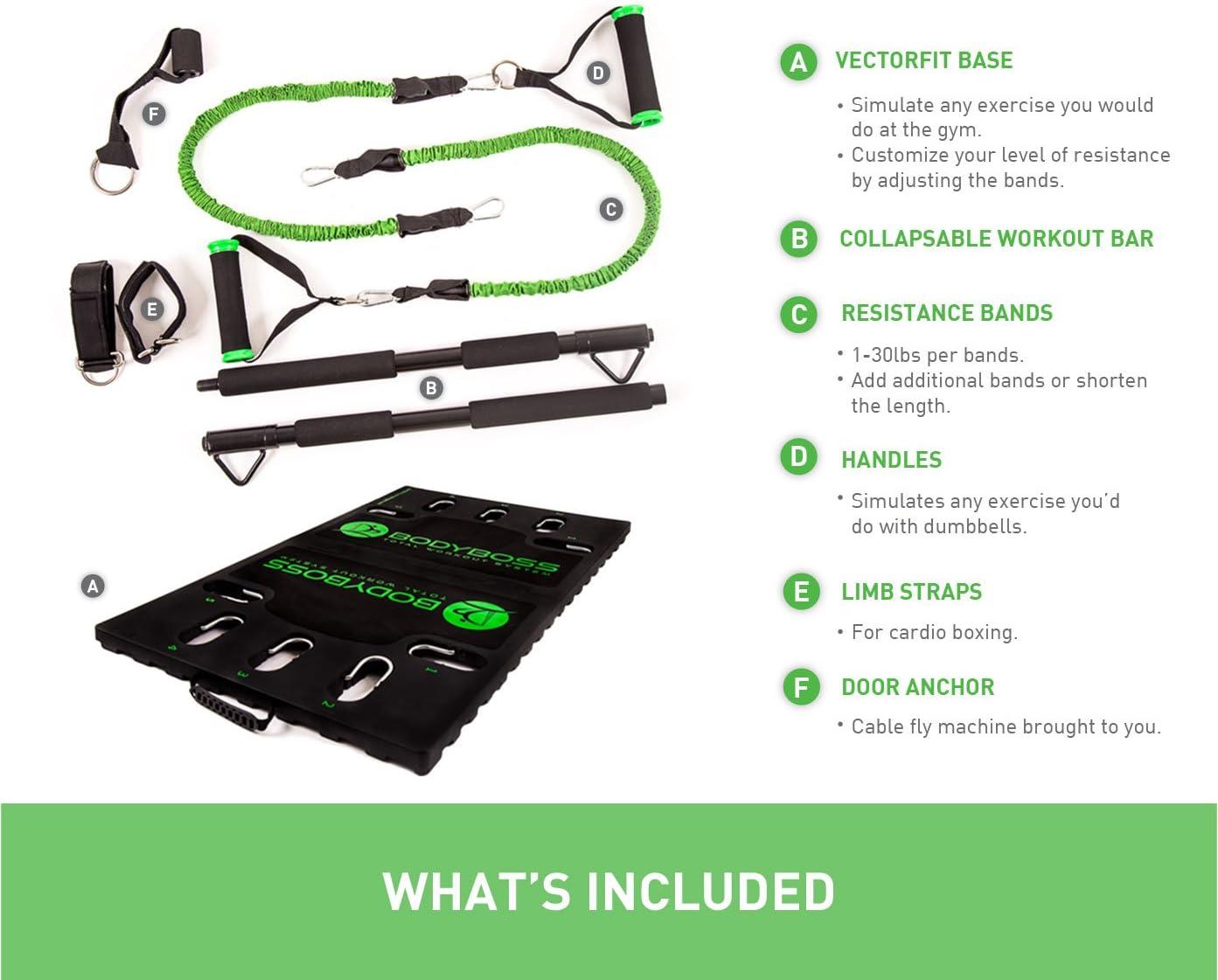 Pack de bandes suppl/émentaires BodyBoss 2.0 Salle de sport portable pour la maison