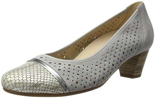Zapatos beige Gabor Comfort para mujer  green-us4-4.5 / eu34 / uk2-2.5 / cn33  ZQ YYZ Zapatos de mujer - Tac¨®n Plano - Puntiagudos - Planos - Casual - Semicuero - Azul / Amarillo / Negro / Rosa hU7Sr