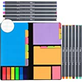 JARLINK 590-in-1 Divider Sticky Notes Set with 12 Colors Journal Planner Pens, Super Sticky Page Markers Prioritize, 60…