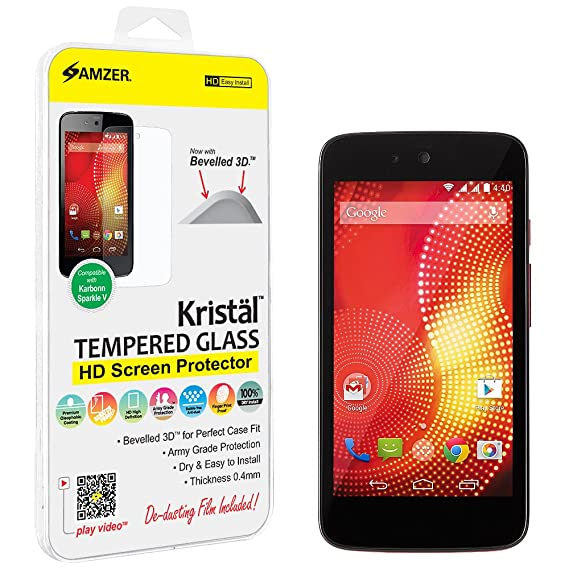 new style 10e59 4fee6 Amazon.com: Amzer® Kristal™ Tempered Glass HD Screen Protector ...