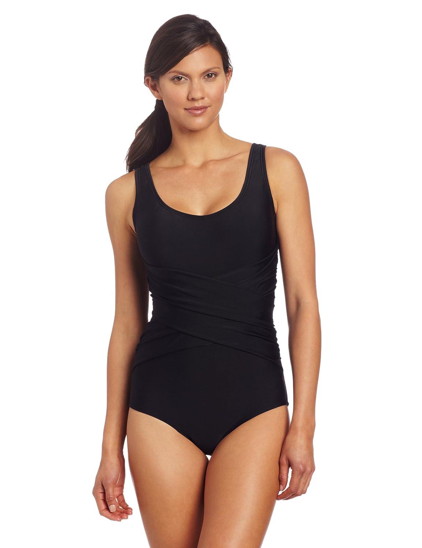 a3e3f5d682 Amazon.com   Speedo Women s PowerFLEX Eco Active Criss Cross Front One  Piece Swimsuit   Sports   Outdoors