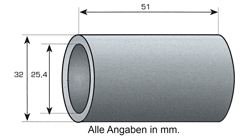 Reduzierbuchse für Oberlenker Neu 32 auf 25 mm Kat 3-2 Reduzierhülse
