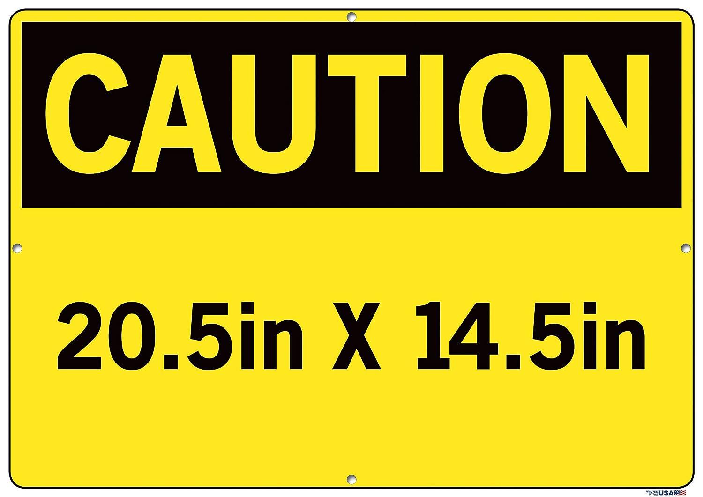 Vestil Caution Sign SI-C-43-E-AL-063-S Aluminum .063 Overall Size 20.5W x 14.5H Hard HAT Area Zona DE CASCOS DE SEGURIDAD