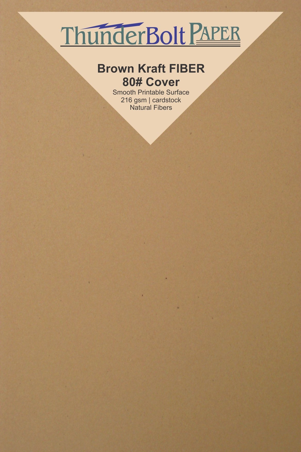 50 Brown Kraft Fiber 80# Cover Paper Sheets - 4'' X 6'' (4X6 Inches) Photo|Card|Frame Size - Rich Earthy Color with Natural Fibers - 80lb/pound Cardstock - Smooth Finish