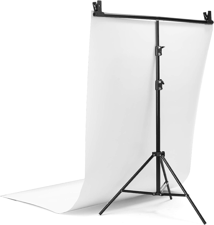sin Pliegues de Fondo Foto del Producto. Fondo de Vinilo para Estudio de fotograf/ía 60/x 130/cm Disponible en Negro Gris Profesional Blanco Blanco Reflectante y Negro Reflectante