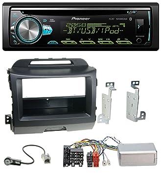 Pioneer S500 0bt AUX MP3 USB CD Bluetooth Radio de coche para Kia Sportage 3 (a partir de 10) Negro: Amazon.es: Electrónica