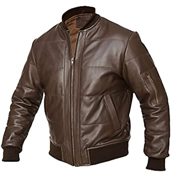 Liberty Brown Bomber Motorcycle Leather Jacket At Amazon Men S