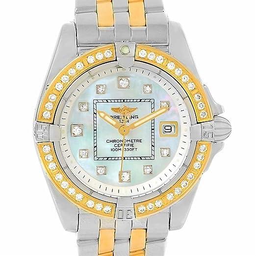 Breitling cabina cuarzo mujer reloj d71356 (Certificado) de segunda mano: Breitling: Amazon.es: Relojes