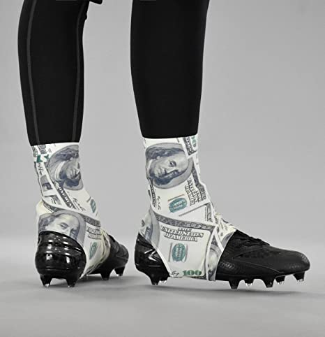 096dad054a5 Amazon.com   SLEEFS Money Benjamins Spats Cleat Covers   Sports ...