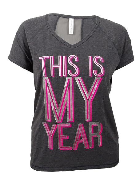 22e35f173548a7 Ideology Women s Plus Size Metallic Graphic T-Shirt at Amazon Women s  Clothing store