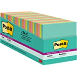 Post-it Super Sticky Notes, 3x3 inches, 24 Pads, 2x the Sticking Power, Miami Collection, Neon Colors (Orange, Pink, Blue, Gr