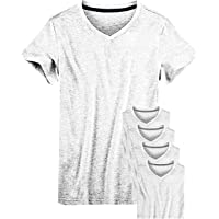 Kit 05 Camisetas Camisas Masculina Gola V Slim Fit Basica