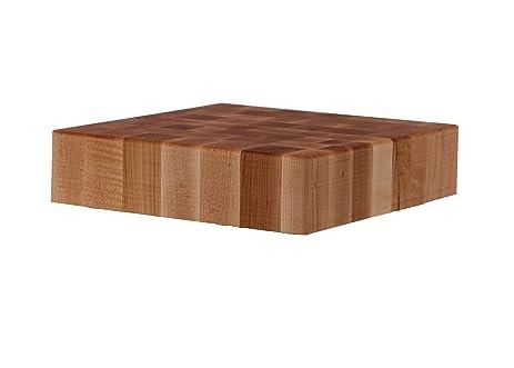john boos maple wood end grain butcher block cutting board 18 inches x 18 inches