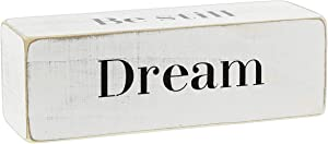 """The Bridge Collection Four-Sided Inspirational Wood Block Sign, 6"""" ('Dream')"""