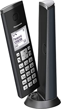 Panasonic KX-TGK210, Teléfono Fijo Inalámbrico de Diseño (LCD, Identificador de Llamadas, Agenda de 50 números, Bloqueo de Llamada, Modo ECO), DECT, Negro: Amazon.es: Electrónica