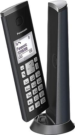 Oferta amazon: Panasonic KX-TGK210, Teléfono Fijo Inalámbrico de Diseño (LCD, Identificador de Llamadas, Agenda de 50 números, Bloqueo de Llamada, Modo ECO), DECT, Negro