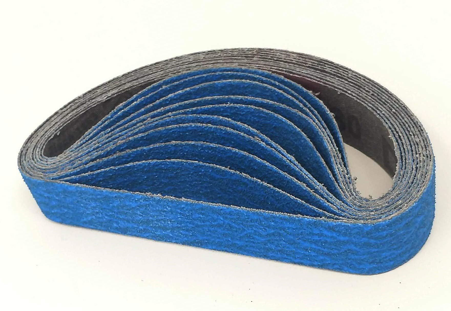 3/4 X 12 Coarse 120 Grit Ceramic Knife Sharpener Belts Compatible with Ken Onion Work Sharp Knife & Tool Sharpener
