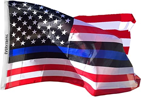Blue Lives Matter Police USA American Thin Blue Line 3x5 Flag Officers 3/' x 5/'
