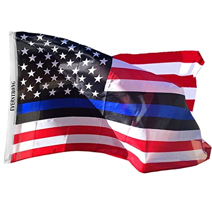 b0cbc94ea92c Blue Lives Matter USA American Police Flags- Honor Law Enforcement Officers  (LEO) -