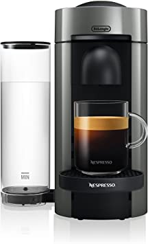 Nespresso by DeLonghi ENV150GY VertuoPlus Coffee and Espresso Machine by DeLonghi, 5.6 x 16.2 x 12.8 inches, Graphite Metal