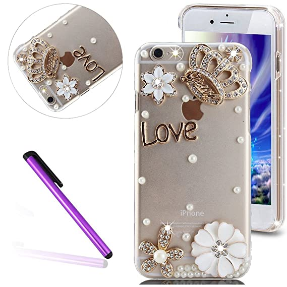huge discount eb45a 516d6 girl 6S Case iPhone 6 Case EMAXELER Bling Swarovski Crystal Rhinestone  Diamond Clear Slim Premium Hard PC Case for iPhone 6/6S 4.7