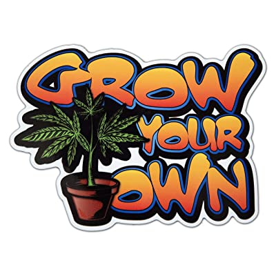 Bamfdecals Premium Laminated Grow Your Own Marijuana Sticker Slap: Automotive