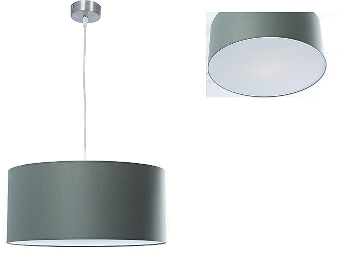 Clásica Lámpara de techo | Cadena de Iluminación de | lámpara | gris | XXL | lámpara colgante | Salón, comedor, Dormitorio, Cocina, diámetro 55 cm, ...